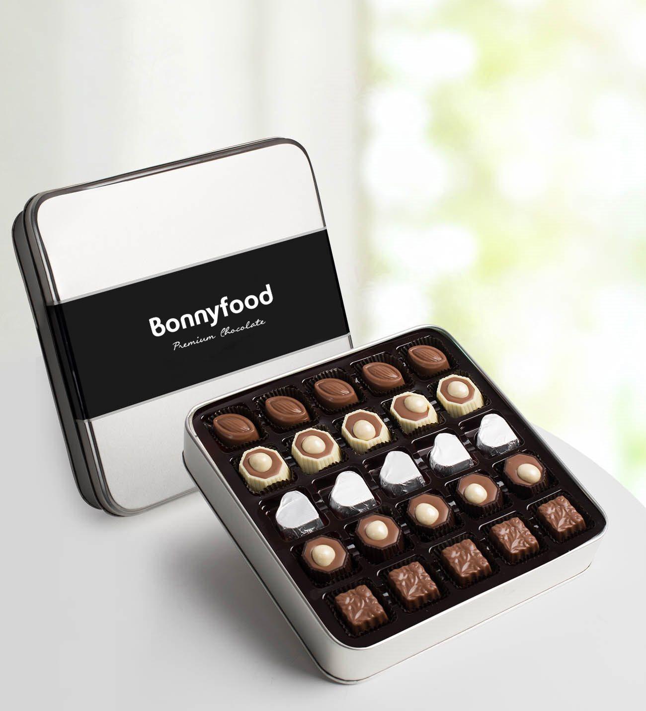 Metal kutuda spesiyal çikolata 300 gr.
