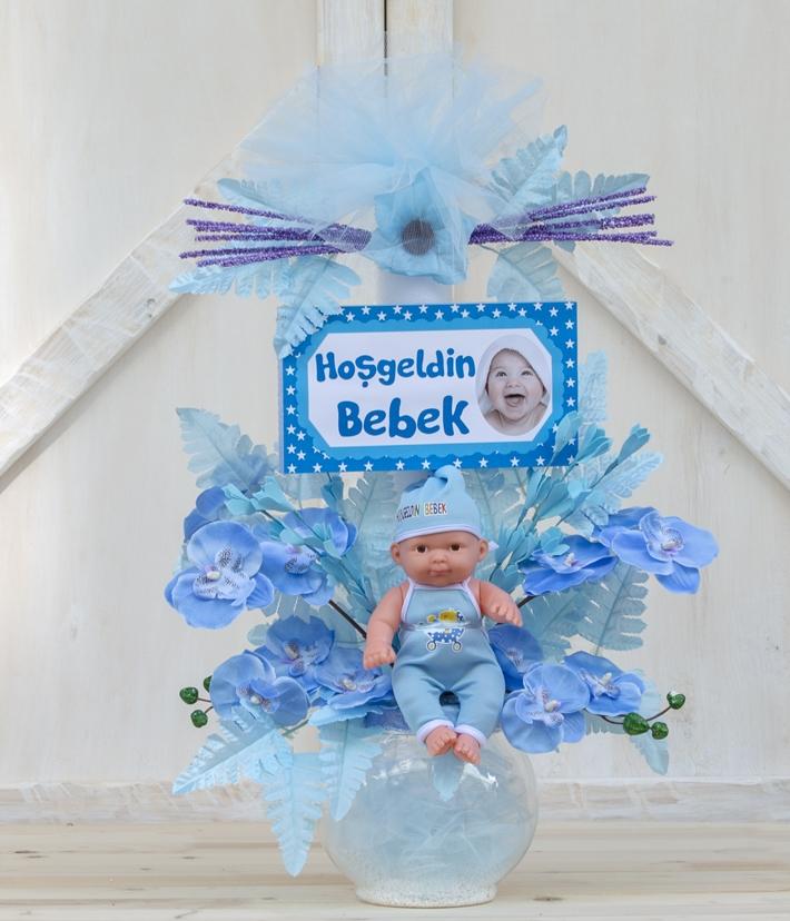 Erkek bebek doğum aranjmanı